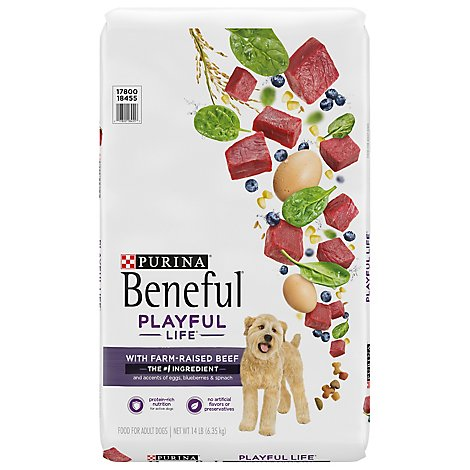 Beneful Dog Food Dry Playful Life Real Beef Accented With Egg - 14 Lb