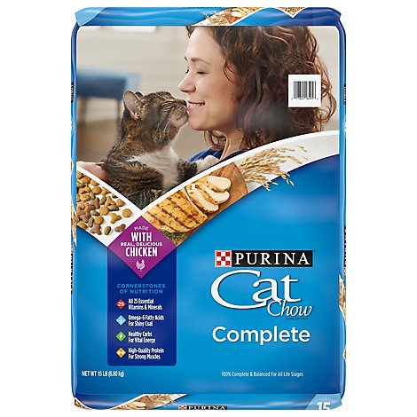 Purina Cat Chow Cat Food Complete - 15 Lb
