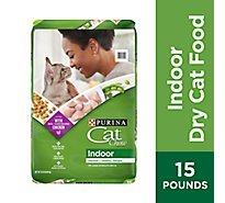 Cat Chow Cat Food Dry Indoor Blend Of Proteins With Accents Of Garden Greens - 15 Lb