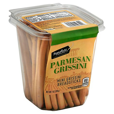 Signature Select Mini Breadsticks Parmesan Tub - 7 Oz