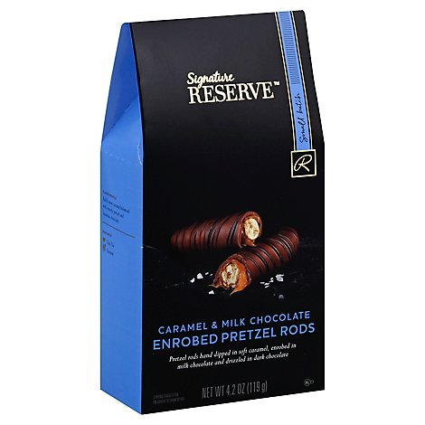 Signature RESERVE Pretzel Rod Enrobed Caramel & Milk Chocolate - 4.2 Oz