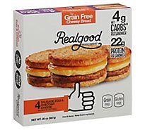 Real Good Breakfast Sandwiches Sausage Egg & Cheddar Cheese 4 Count - 20 Oz