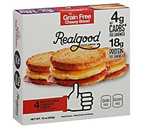 Real Good Breakfast Sandwiches Bacon Egg & Cheddar Cheese 4 Count - 15 Oz