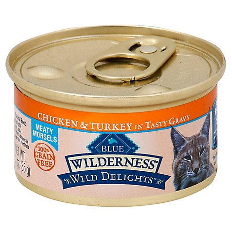 Blue Wilderness Wild Delights Cat Food Chicken & Turkey In Tasty Gravy - 3 Oz