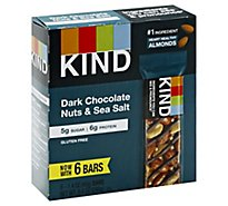 KIND Bar Dark Chocolate Nuts & Sea Salt - 6-1.4 Oz