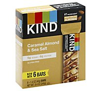 KIND Bar Caramel Almond & Sea Salt - 6-1.4 Oz