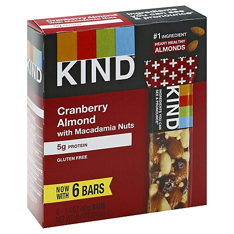 KIND Bar Cranberry Almond With Macadamia Nuts - 6-1.4 Oz