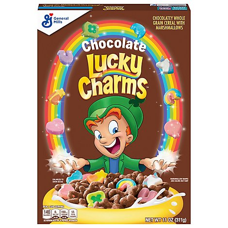 Lucky Charms Cereal Whole Grain With Marshmallows - 11 Oz