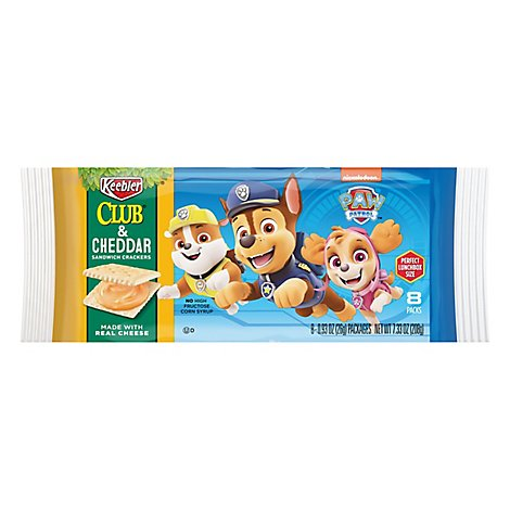 PAW Patrol Sandwich Crackers Club and Cheddar 8 Count - 7.33 Oz