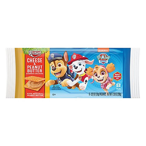 PAW Patrol Sandwich Crackers Cheese and Peanut Butter 8 Count - 7.33 Oz