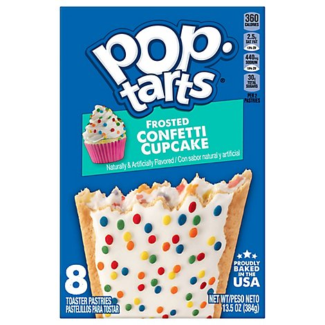 Pop-Tarts Breakfast Toaster Pastries Frosted Confetti Cupcake - 13.5 Oz
