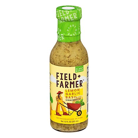Field & Farmer Lemon Garlic Basil Vinaigrette - 12 Fl. Oz.