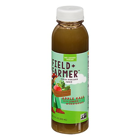 Field & Farmer Kale Wheatgrass Juice - 12 Fl. Oz.
