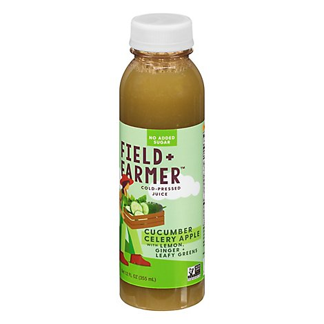 Field & Farmer Cucumber Apple Mint Juice - 12 Fl. Oz.