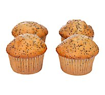 Pavilions Muffins Lemon Poppy Seed 4ct