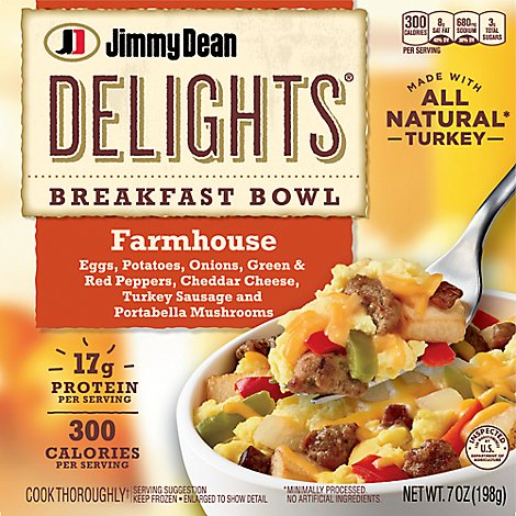 Jimmy Dean Delights Breakfast Bowl Farmhouse - 7 Oz