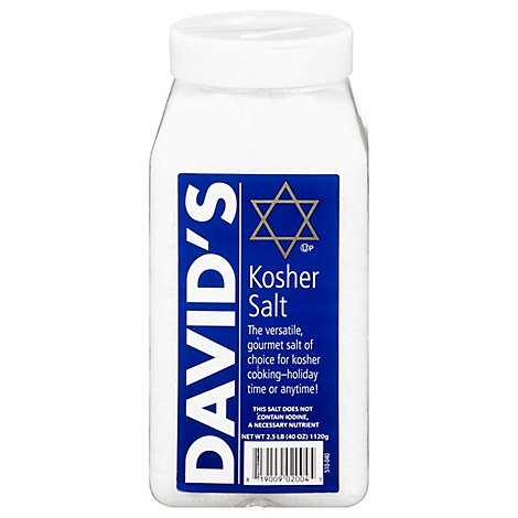 Davids Salt Kosher - 40 Oz