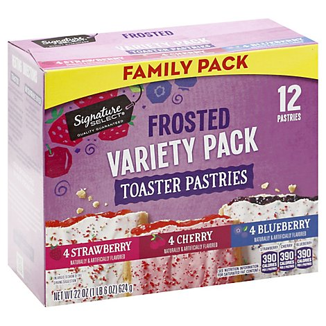 Signature Select Toaster Pastry Variety Family Pk - 22 Oz