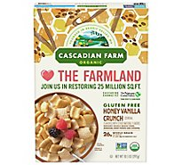 Cascadian Farm Organic Cereal Honey Vanilla Crunch - 10.5 Oz