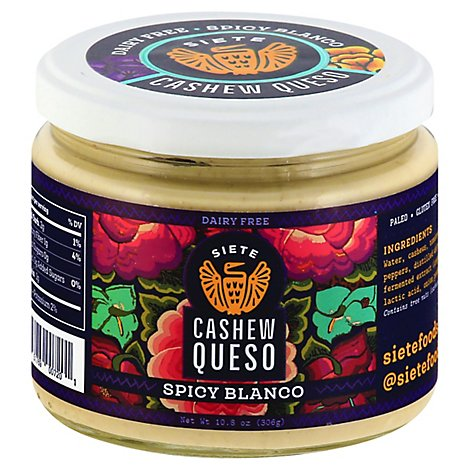 Siete Queso Spicy Blanco Cashew - 10.8 Oz