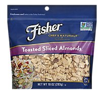 Fisher Chefs Naturals Almonds Toasted Sliced - 10 Oz