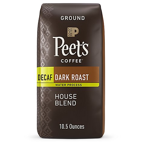 Peets Decaf House Blend Coffee - 10.5 Oz