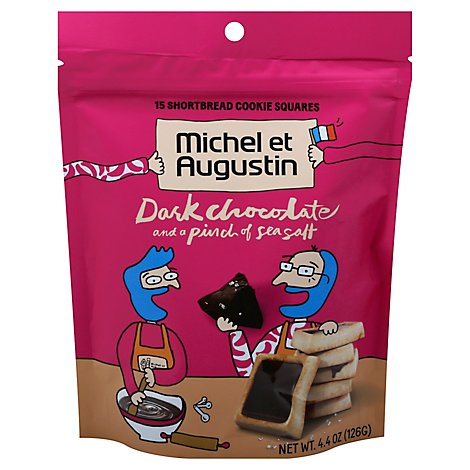 Michel Et Cookie Sqr Drk Choc Pch - 4.4 Oz