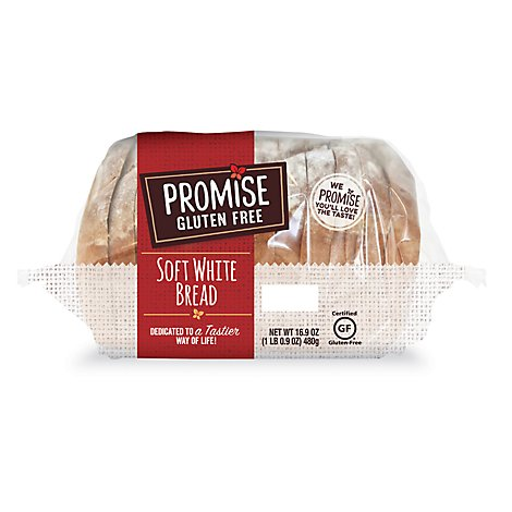 Promise G Bread Loaf Soft White Gf - 16.9 Oz