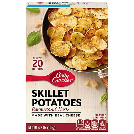 Betty Crocker Crispy Skillet Potatoes Parmesan & Herb - 4.2 Oz