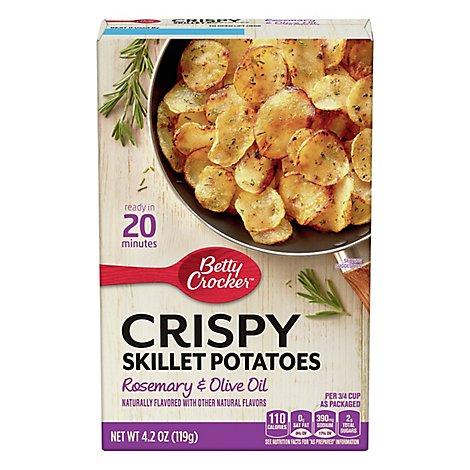 Betty Crocker Crispy Skillet Potatoes Rosemary & Olive Oil - 4.2 Oz