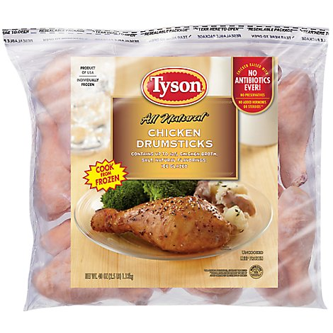 Tyson Chicken Drumsticks - 40 Oz