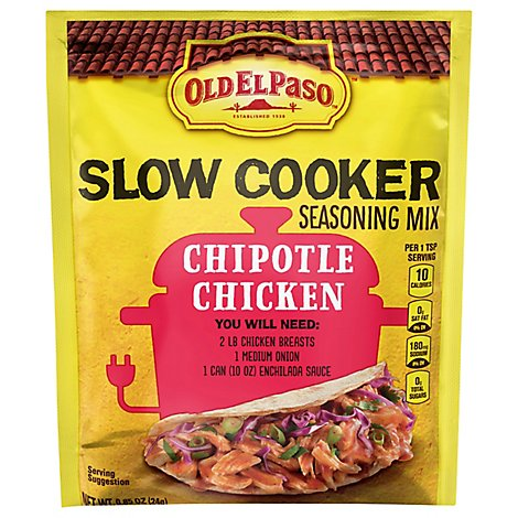 Old El Paso Slow Cooker Seasoning Mix Chipotle Chicken - 0.85 Oz