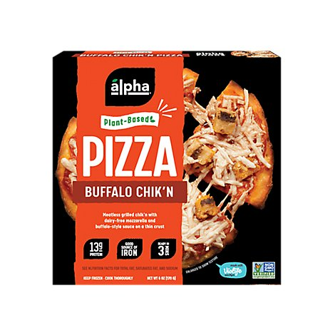 Alpha Foods Pizza Buffalo Chicken - 6 Oz