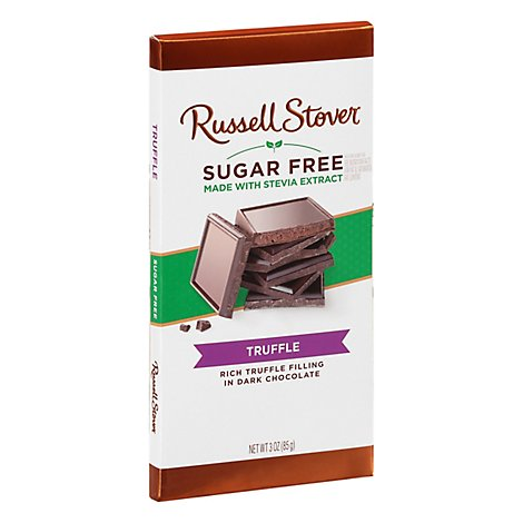 Russell Stover Dark Chocolate Sugar Free Truffle - 3 Oz