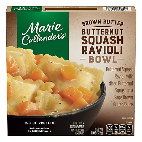 Marie Callenders Bowl Butternut Squash Ravioli Brown Butter - 11 Oz