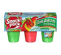 Snack Pack Pudding Dragon Treasure - 6-3.25 Oz