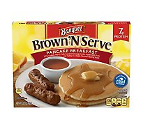 Banquet Brown N Serve Sausage With Pancake And Maple Sauce - 5.02 Oz