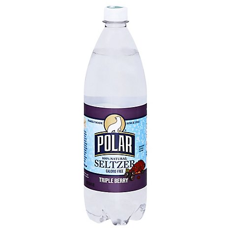 Polar Seltzer 100% Natural Calorie Free Triple Berry - 1 Liter
