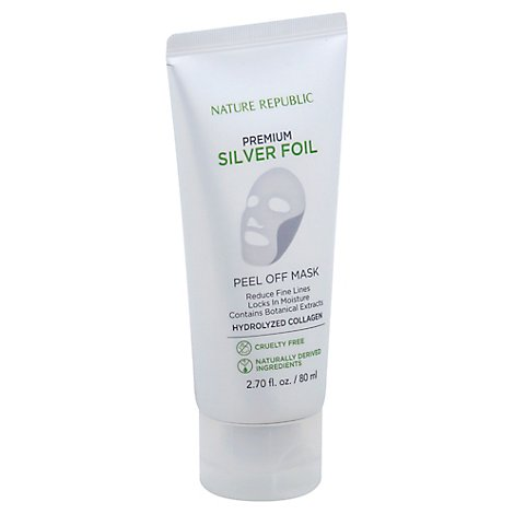 Nature Republic Premium Silver Foil Peel Off Mask - 2.7 Fl. Oz.