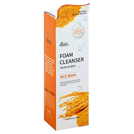 Ekel Rice Bran Foam Cleanser - 6.09 Fl. Oz.
