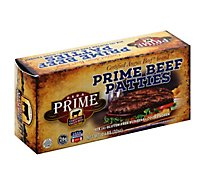 Certified Angus Beef Burger Patties Prime Gluten Free 6 Count - 2 Lb