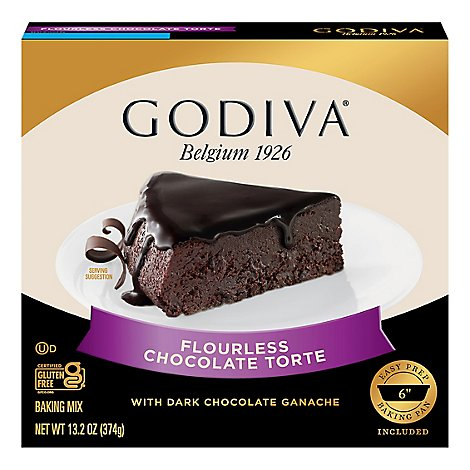 Godiva Baking Mix Flourless Chocolate Torte With Dark Chocolate Ganache - 13.2 Oz