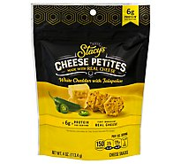 Stacys Cheese Petites White Cheddar Jalapeno - 4 Oz