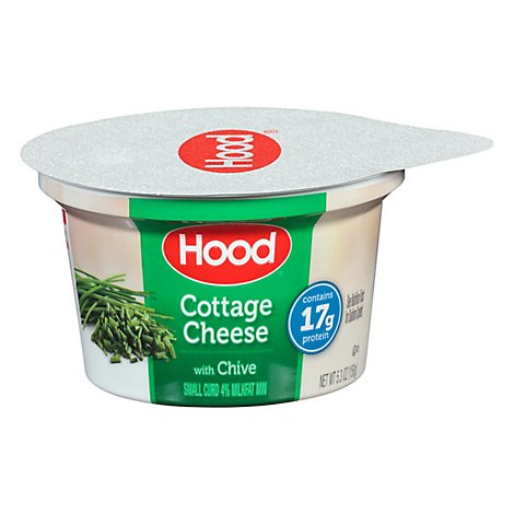 Hood Cheese Cottage Small Curd 4% Milkfat With Chive - 5.3 Oz