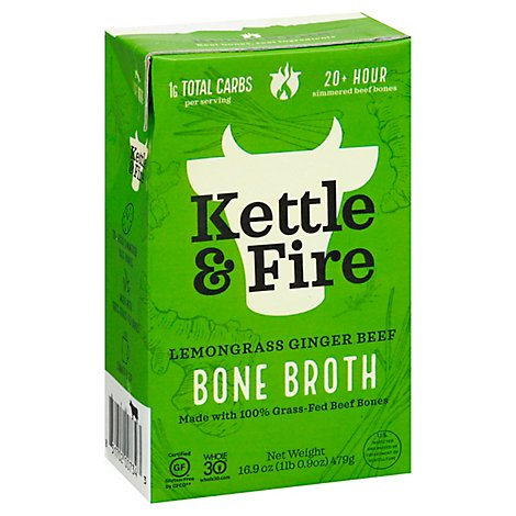 Kettle & Fire Bone Broth Lemongrass Ginger Pho - 16.9 Fl. Oz.