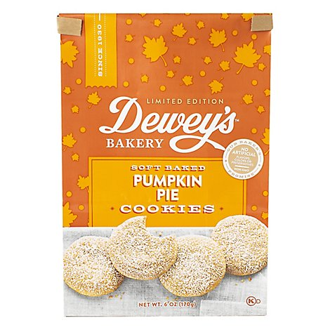 Deweys Bakery Cookies Soft Baked Pumpkin Pie - 6 Oz
