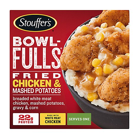 Stouffers Bowlfulls Fried Chicken & Mashed Potatoes - 14 Oz
