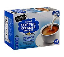 Signature Select Creamer Singles French Vanilla Lqd - 48 Count