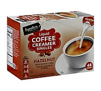 Signature Select Creamer Singles Hazelnut Lqd - 48 Count
