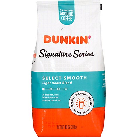 Dunkin Signature Series Select Smooth Blend Coffee - 10 Oz
